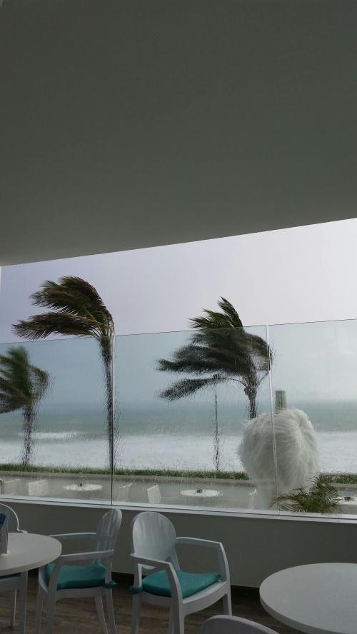 regn o blåst